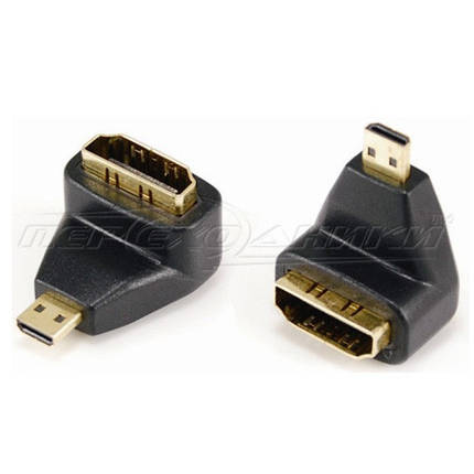 Переходник micro HDMI (M) - HDMI (F), угловой, фото 2