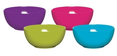 Цветные меламиновые пластиковые миски, классика цветов, набор из 3