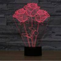 Светильник 3D Розы