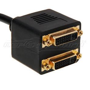 Пассивный Splitter DVI-D (24+1) (M) to 2x DVI-I (24+5) (F), фото 2