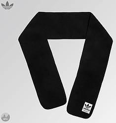 Теплый шарф Adidas черного цвета (люкс копия)