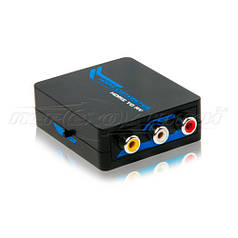Конвертер HDMI to AV (RCA) + Audio 1080p, питание mini USB