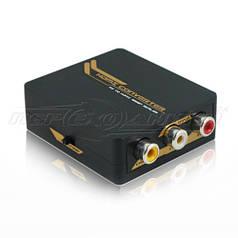 Конвертер AV (RCA) to HDMI 720p/1080p + Audio, питание mini USB