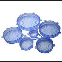 Силиконовые универсальные крышки для посуды Silicone Stretch Lids 6 в 1 / Крышка силиконовая для посуды
