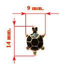 Серьги Черепахи Разных Цветов, Упаковка на 12 пар, фото 3