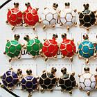 Серьги Черепахи Разных Цветов, Упаковка на 12 пар, фото 4