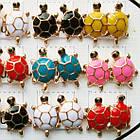 Серьги Черепахи Разных Цветов, Упаковка на 12 пар, фото 5