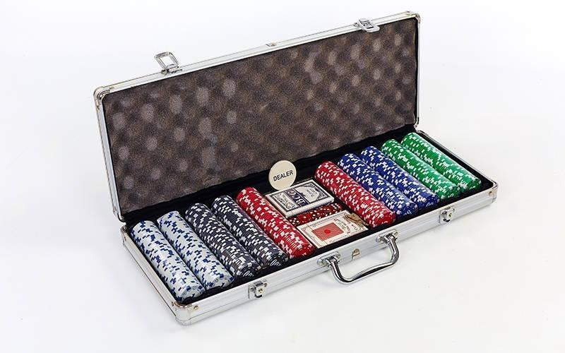 Покерний набір 500фишек IG-2115
