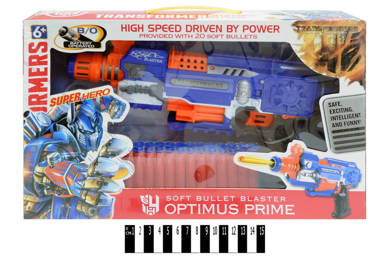 Бластер Орtimus Prime с поролоновыми пулями