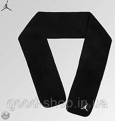 Теплый шарф Jordan черного цвета (люкс копия)