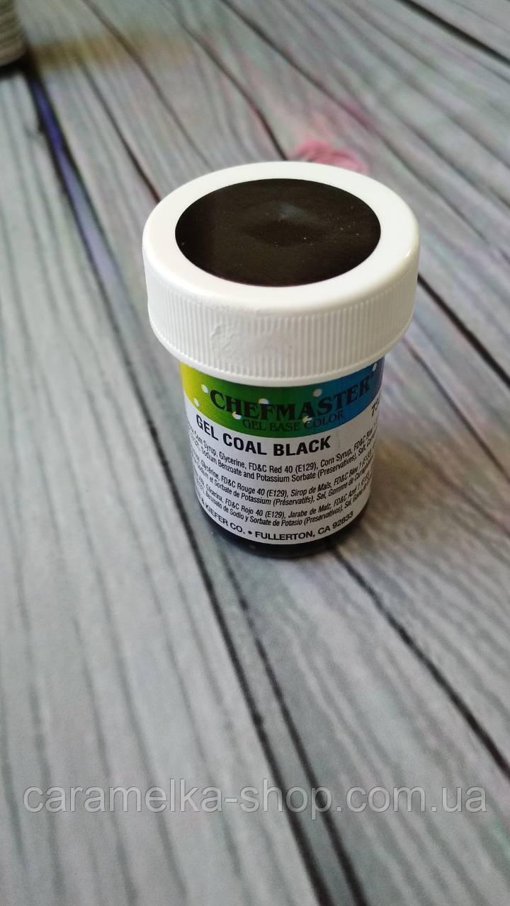"""Краска """"Chefmaster"""" пастообразная COAL BLACK 28 г. Гелевый краситель."""