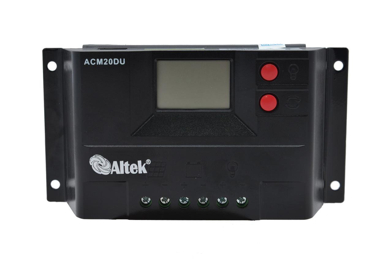 Контроллер заряда JUTA CM20D 15A 12/24V+USB
