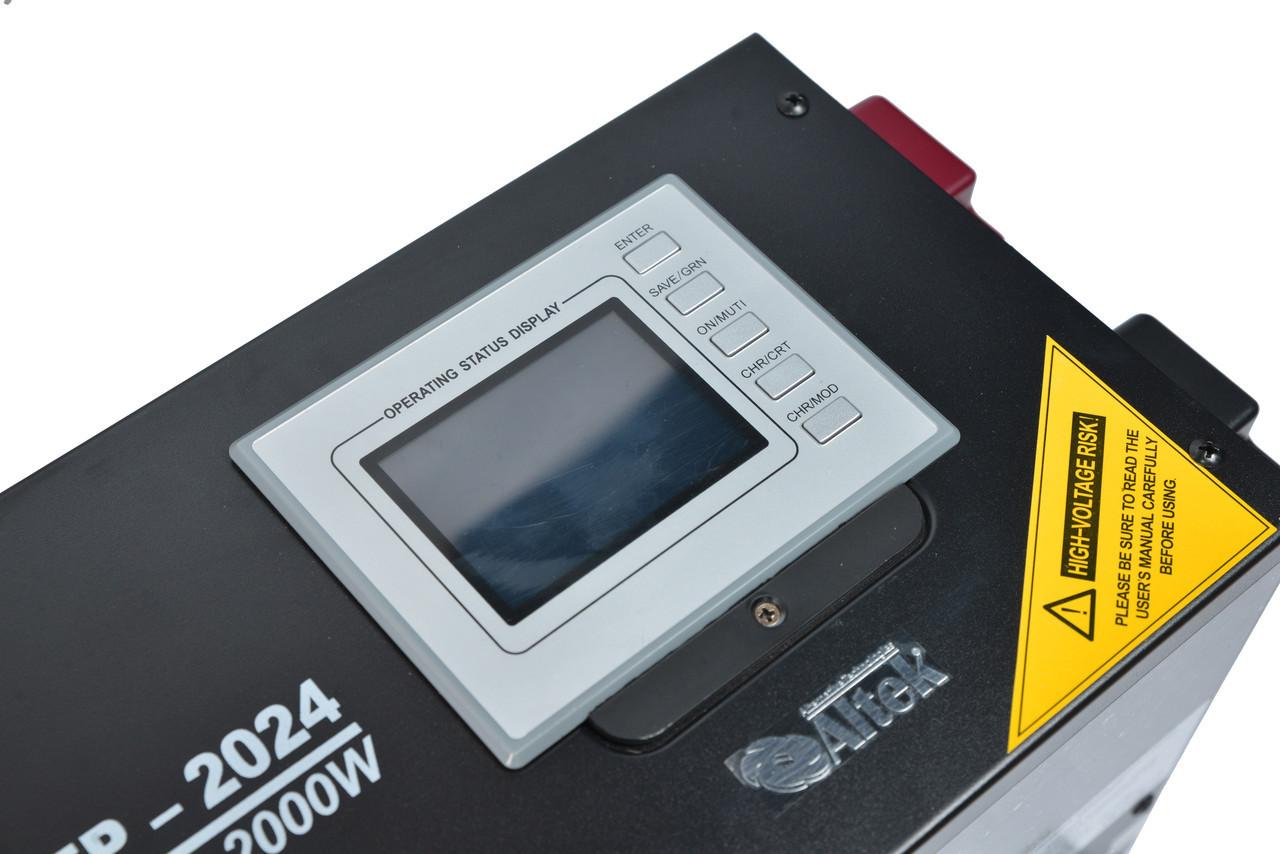Інвертор з функцією ДБЖ, AEP-2024, 2000W/24V