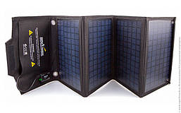Портативная солнечная зарядка AM-SF28 28W, 5-18V,