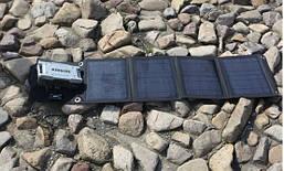 Портативная солнечная зарядка AM-SF40 40W, 10-18V,