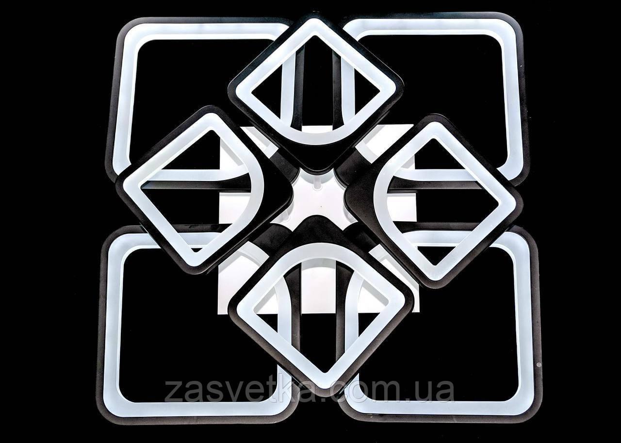 Люстра светодиодная 216 ват  MX2281/4+4 диммер  (белая,черная)