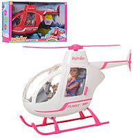 Кукла DEFA 8422-BF  шарнирн.30см,вертолет46см - муз,св,2цв, на бат-ке, в кор-ке, 46-30-13,5см