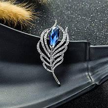 Жіноча брошка Flame silver