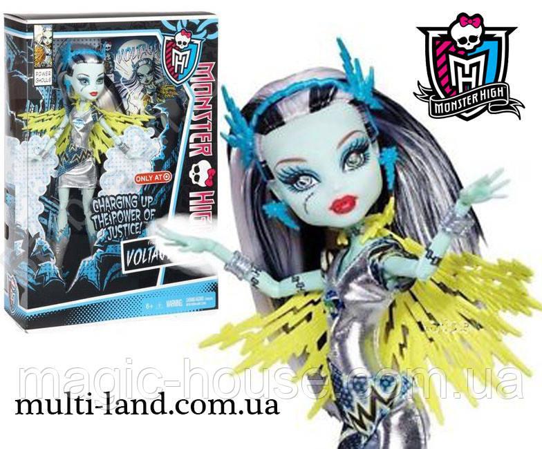 Кукла Монстер Хай Фрэнки Штейн Супергерои Monster High Exclusive Power Ghouls Frankie Stein as Voltageous