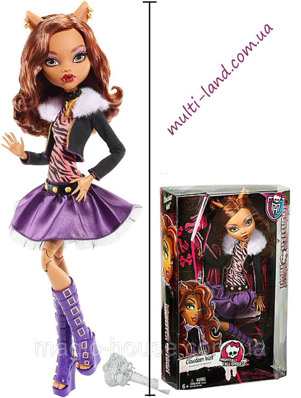 Кукла Монстр Хай Клодин Вульф 42 см Страшно огромные Monster High Frightfully Tall Ghouls Clawdeen Wolf Doll