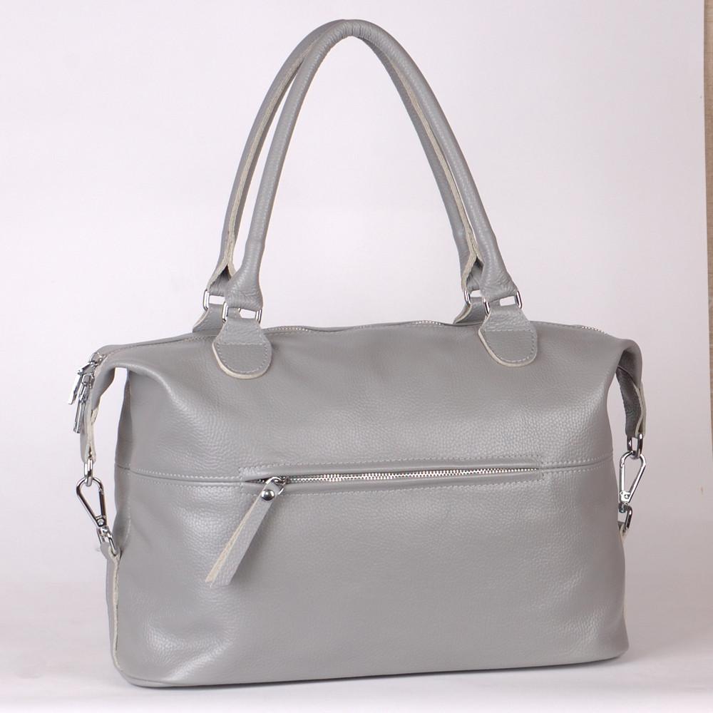 Женская кожаная сумка 47 серый флотар 01470114