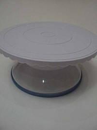 Стійка для торта обертається пластик висота 13,6 см, фото 2