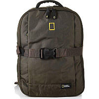 Городской рюкзак National Geographic Recovery Хаки с отд. д/ноут и планш.+RFID защита (N14108;11)