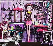 Игровой набор Дракулаура и Кафе Крипатерия  Monster High Beast Bites Cafe Draculaura Doll & Play, фото 4
