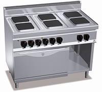 Плита электрическая с духовкой Bertos E7PQ6+FE