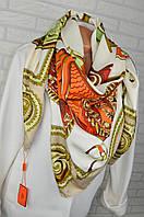 Шикарный шелковый платок в стиле Hermes (Гермес)