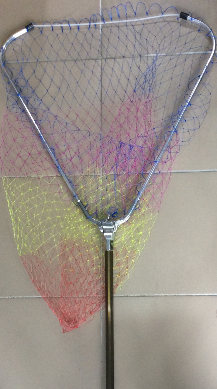Подсак треугольный 50*300см,  с телескоп. ручкой (леска)