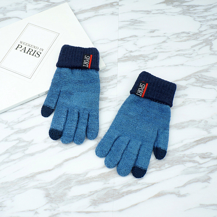 Перчатки мужские для сенсорных экранов Gloves Sport Touch blue
