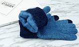 Перчатки мужские для сенсорных экранов Gloves Sport Touch blue, фото 2