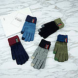 Перчатки мужские для сенсорных экранов Gloves Sport Touch blue, фото 7