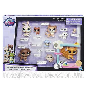 Littlest Pet Shop Маленький зоомагазин набір 11 тваринок з котиком The Sweet Sort