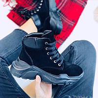 Кроссовки зимние черные, фото 1