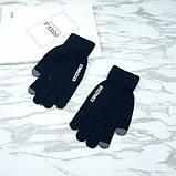 Перчатки мужские для сенсорных экранов Gloves Touch Idiman dark blue, фото 2