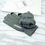 Перчатки мужские для сенсорных экранов Gloves Touch Idiman dark blue, фото 3