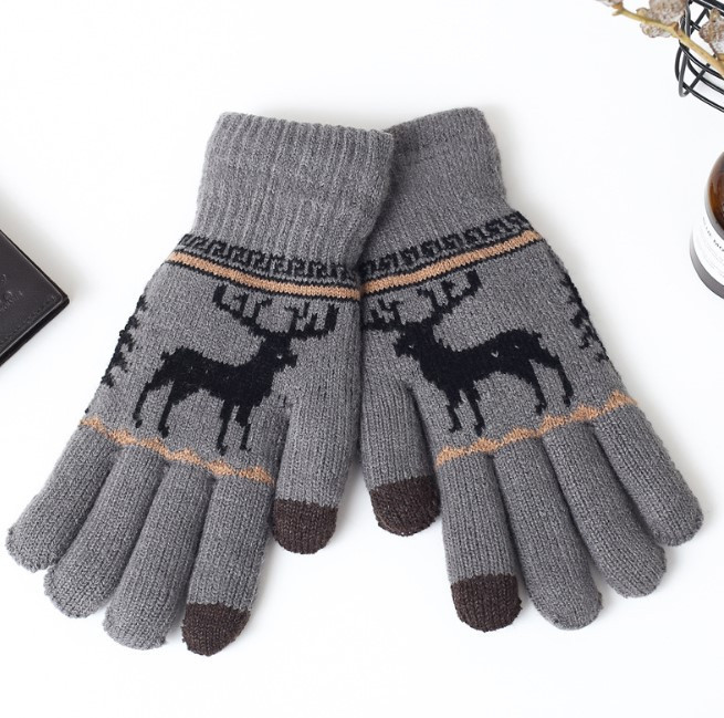 Перчатки утепленные для сенсорных экранов Brumal gray