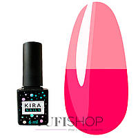 Термо гель-лак Kira Nails Termo №T13 - насыщенный темно-розовый, при нагревании ярко-розовый, 6 мл