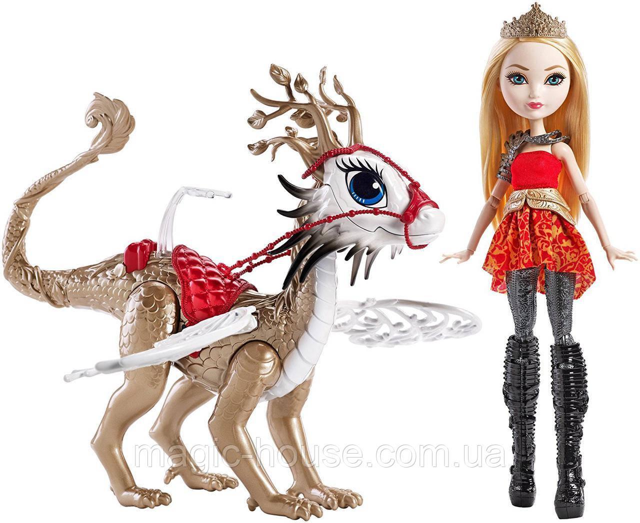 Набор Ever After High Эппл Уайт и дракон Брэбёрн Dragon Games Apple White Doll and Braebyrn Dragon