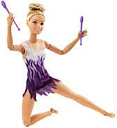 Кукла BarbieГимнасткаБезграничные движения Made to Move Rhythmic Gymnast, фото 7