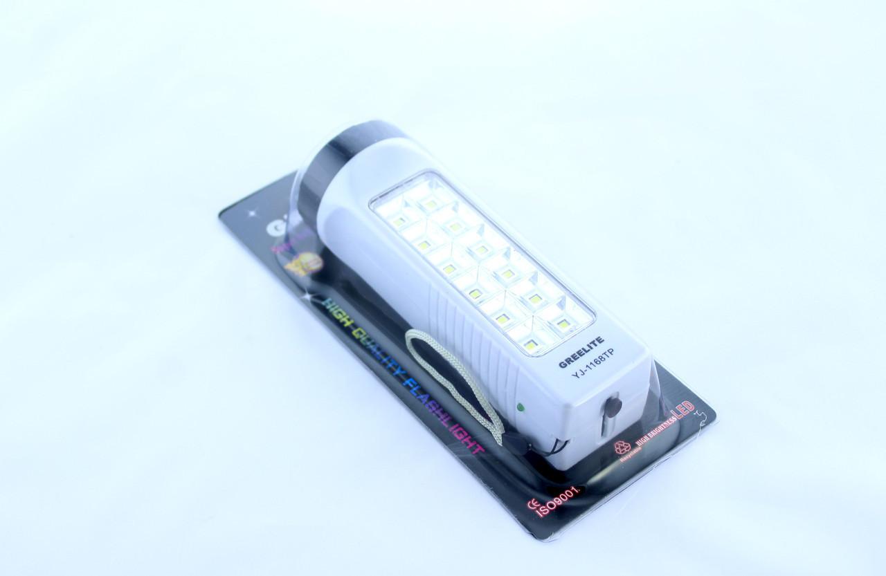 Фонарь аккумуляторный  YAJIA YJ-1168TP  1+12LED / светодиодный