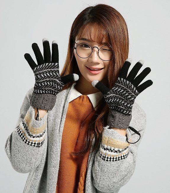 Перчатки с подогревом от USB Touch Screen Sungloves black