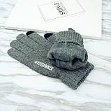 Перчатки мужские для сенсорных экранов Gloves Touch Idiman dark gray, фото 3