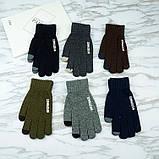 Перчатки мужские для сенсорных экранов Gloves Touch Idiman dark gray, фото 5