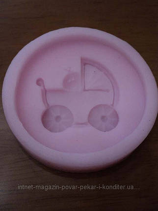 Молд кондитерский Коляска с младенцем, фото 2
