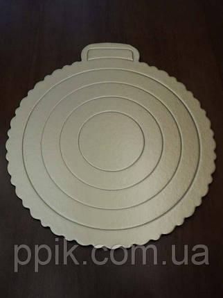 Подставка кондитерская картон для торта 25 см, фото 2