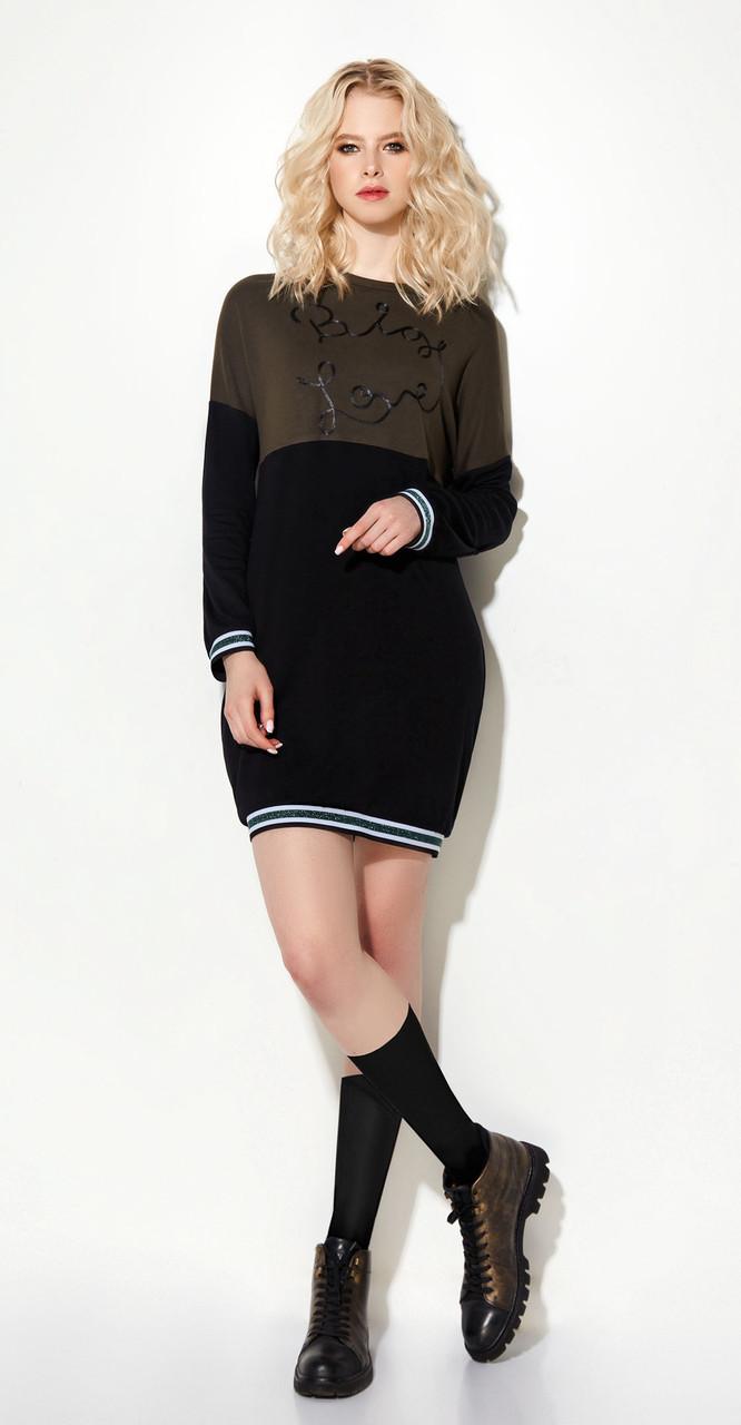Платье Prio-712880 белорусский трикотаж, черный, 42