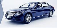 Коллекционная машинка Mercedes Benz S600 (синяя), фото 1
